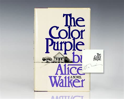 the color purple book ending the color purple edition signed walker