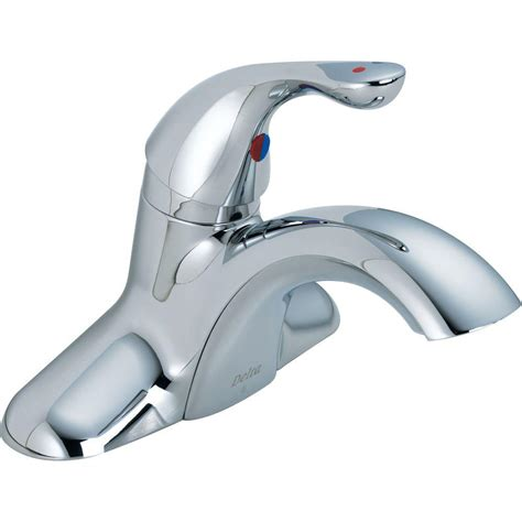 Delta Commercial Faucet by Delta Commercial 4 In Centerset Single Handle Bathroom