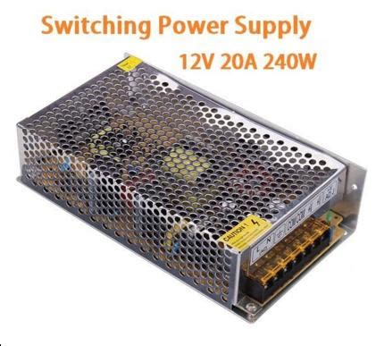 Lh Power Supply Adaptor 12v 20a 240w Led Cctv Kamera 12v dc 20a 240w regulated switching end 4 14 2019 5 15 pm