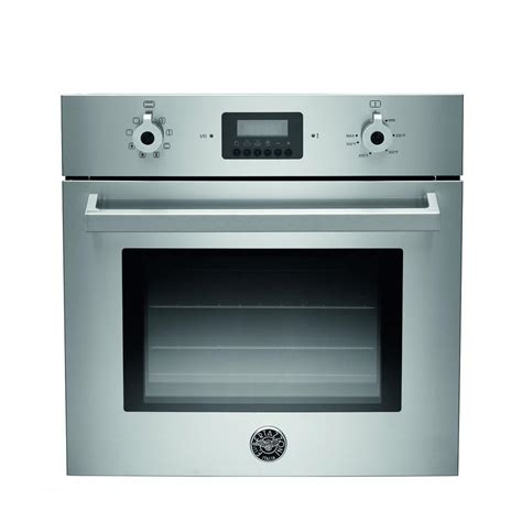 Wall Oven bertazzoni 24 in single electric wall oven manual cleaning with convection in stainless steel
