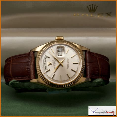 Rolex Leather Date rolex day date gold leather