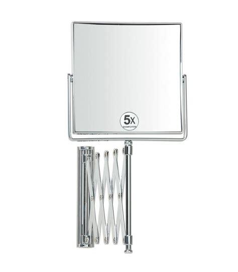 miroir grossissant x5 mural carr 233 sur bras extensible