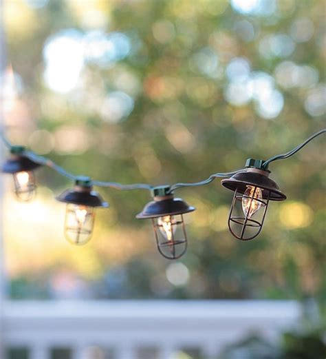 Outdoor Electric Lights Indoor Outdoor Electric Metal Lantern String Lights Contemporary Lighting By Plow