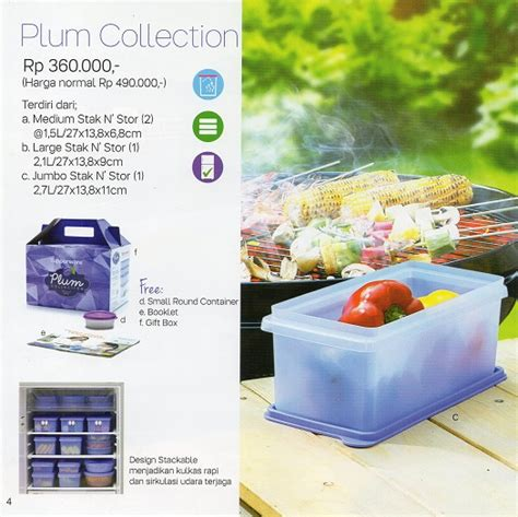 Tupperware Plum Collection Set plum collection tupperware promo katalog terbaru tupperware