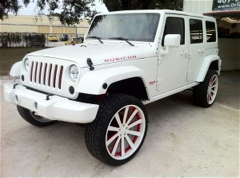 jeep white matte custom paint archives orlando custom audio