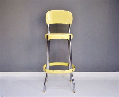 Light Yellow Stool by Vintage Cosco Stool Pale Yellow