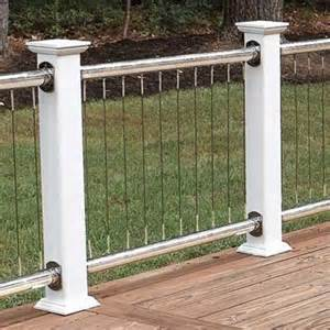 railings stainless steel cables the high tech low fuss deck this old house