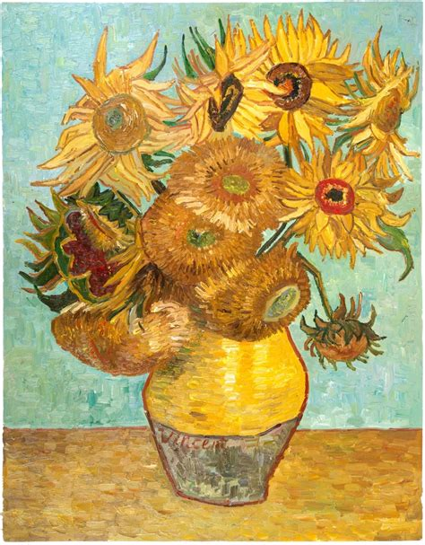 vincent gogh vase with twelve sunflowers vase with twelve sunflowers reproduction gogh studio