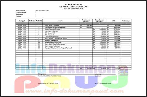 contoh format buku kas masjid download contoh format buku kas umum sekolah paud