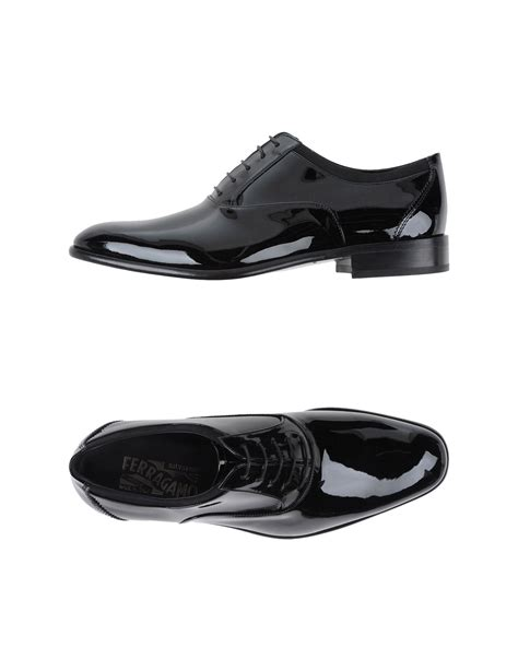 ferragamo lace up shoes in black for save 54 lyst