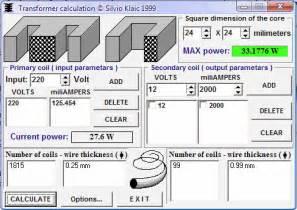 Home Design Program Free download transformer calculator coils and wire thickness