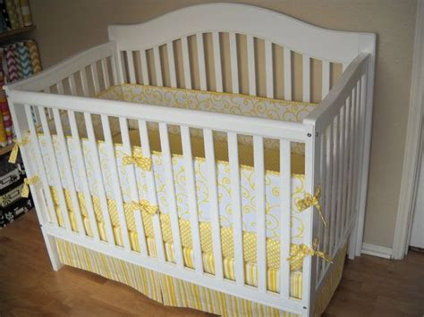 Yellow And White Crib Bedding Custom Crib Bedding Set Yellow And White By Cottagebelles 365 00 Baby S Decor