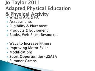 effective physical education content and with web resource an evidence based and tested approach books ppt adapted physical education web resources powerpoint