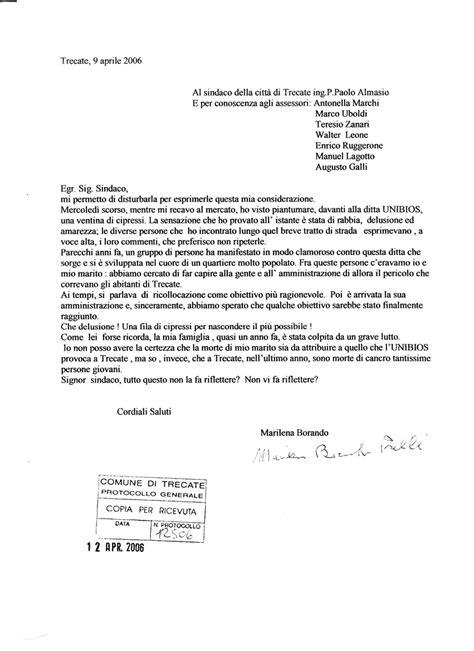 lettere al di unibios lettera al sindaco 09 04 2006