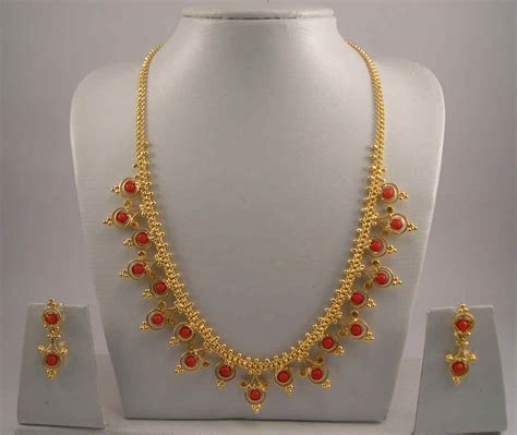 gold jewelry 1gm gold jewelry necklace sets