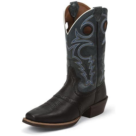 justin silver boots justin s black silver collection cowboy boots 675588