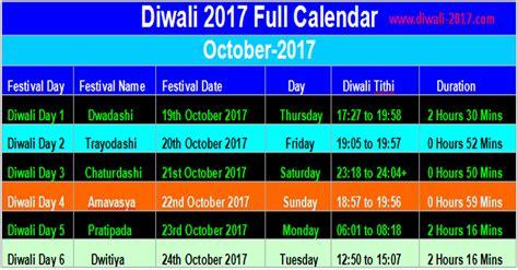 Calendar 2018 Deepavali Happy Diwali 2017 Dates Diwali Puja 2017 Calendar In
