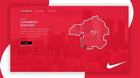 run web layout not working nike just run redesign web design speed art youtube