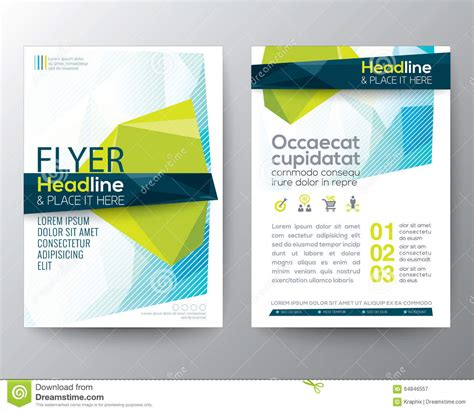 abstract blue low polygon leaflet brochure flyer template abstract low polygon background for poster brochure flyer