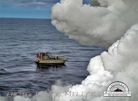 lava ocean entry boat tours hawaii lava photos lance miller 808 966 4200