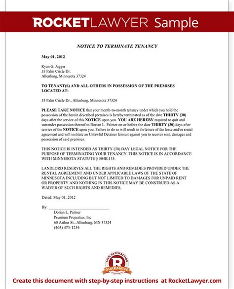 eviction notice mn minnesota eviction notice form with