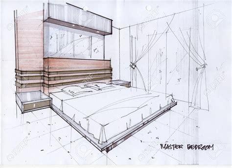 drawn bedroom basic interior design pencil   color