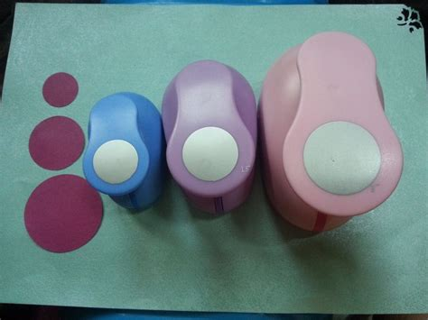 Paper Craft Punch Set - 3pcs 5 0cm 3 8cm 2 5cm circle shape craft punch set punch