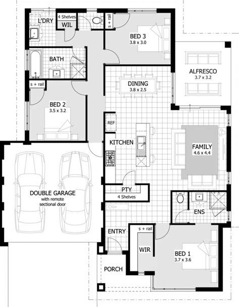 3 bedroom house floor plans interior design free lemon
