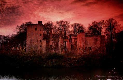 spooky castle  stock photo public domain pictures