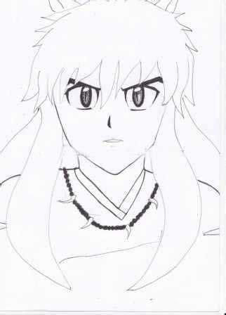 cara menggambar anime inuyasa mangup