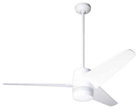 50 Quot Modern Fan Velo Gloss White Ceiling Fan Contemporary White Modern Ceiling Fan