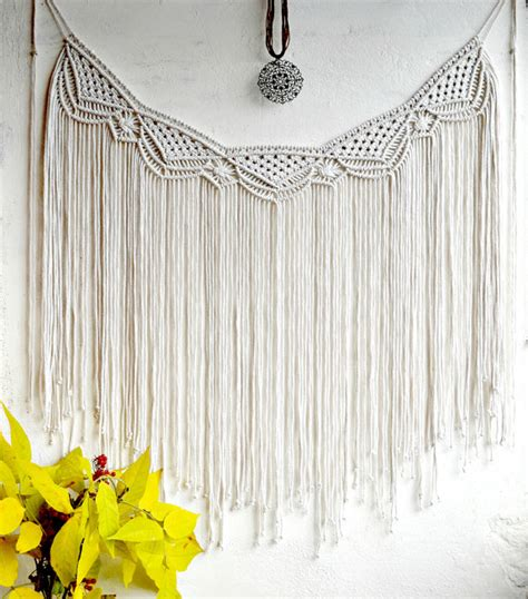 Large Macrame Wall Hanging - large macrame wall hanging macrame curtain macrame wall