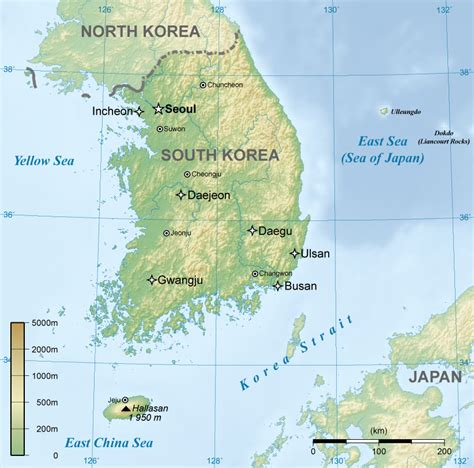 physical map of south korea coffees with clara may 2010