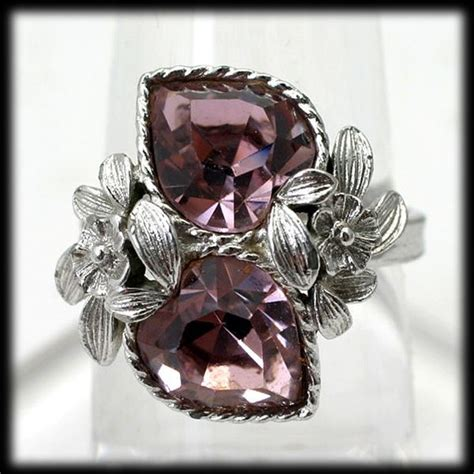 coventry pink story ring vintage 1970s october