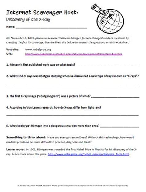 Education World: Internet Scavenger Hunt: Discovery of the