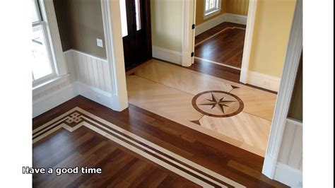 Hardwood floor inlay designs   Homes Floor Plans