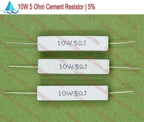 10w 5 ohm resistor aliexpress buy 10pcs lot 10w cement power resistors 10w 5 ohm ceramic cement power