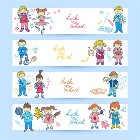 design banner cute cute students vector banners graphics over millions