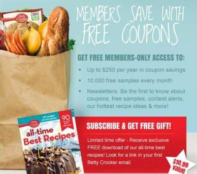 free printable grocery coupons canada only betty crocker members only sign up and receive a free