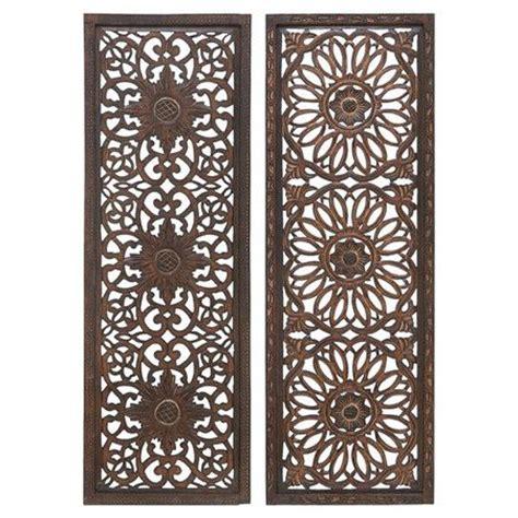 set   wood wall panels  medallion cut outs
