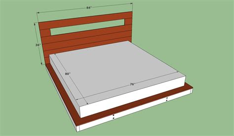 Platform Bed Frame Plans Diy Size Platform Bed Plans Woodworking Projects