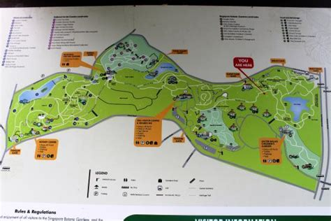 Map Of The Botanic Garden Picture Of Singapore Botanic Singapore Botanical Garden Map