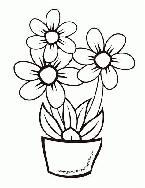 Mewarnai Bunga - Menggambar dan Mewarnai