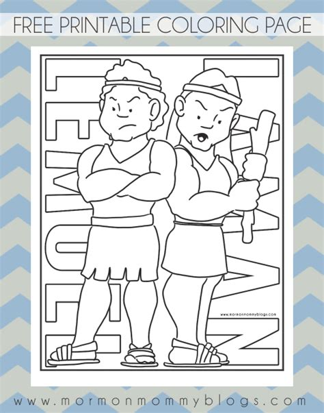 coloring pages book of mormon lds primary talks for kids 2015 search results