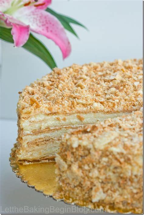 best quot napoleon quot cake ever let the baking begin let the