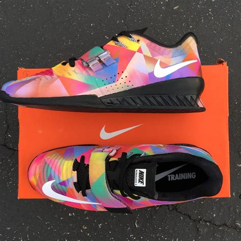 nike lifting shoes nike romaleos 3 prism custom painted weightlifting shoes