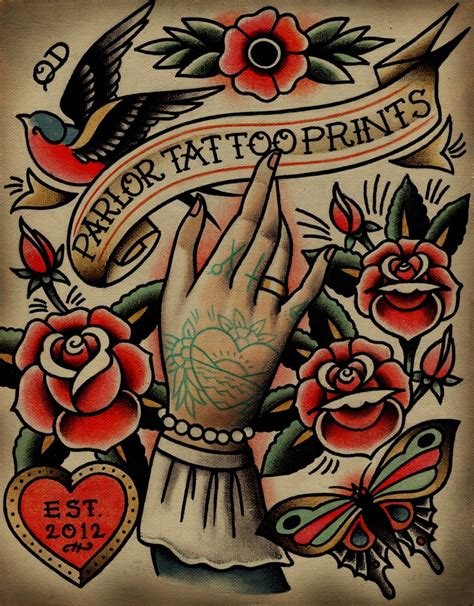 tattoo flash printer 1914 best images about old school tattoos on pinterest
