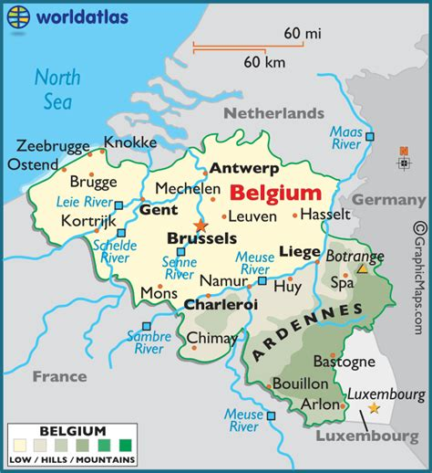 belgica map belgium large color map