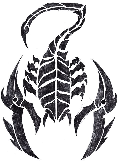 twisted tribal tattoos scorpion stencils free flower