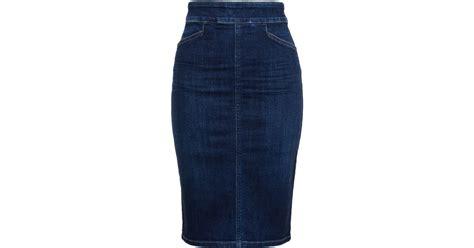 citizens of humanity karmen denim pencil skirt in blue lyst